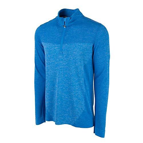 PUMA Golf Men's 2018 Evoknit Seamless 1/4 Zip Outwear, Electric Blue Lemonade, Medium