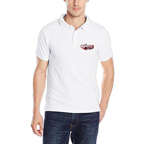 [MEGGE Men's Harley Quinn Cool Solid Polo Shirt] (Black Jasmine Wig)