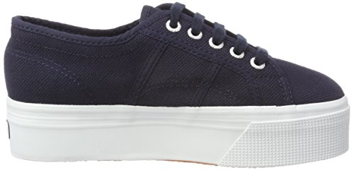 Down Blu Up And Superga 2790acotw Linea fwhite navy Sneaker F43 Donna wIq0pT0