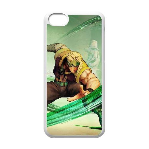 Street Fighter V 22 coque iPhone 5c cellulaire cas coque de téléphone cas blanche couverture de téléphone portable EEECBCAAN03052