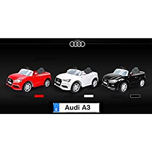 Audi-A3-Electric-Ride-On-Car-Double-Battery-Powered-MP3-LED-Kids-Vehicle-with-24Ghz-Remote-Control-White
