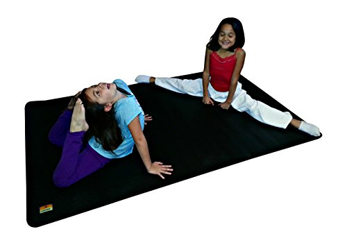 Pogamat Large Exercise Mat 78'' x 48'' x 1/4'' Thick (6.5' x 4') Anti-Tear Workout Mat And Yoga Mats. Perfect For All Types Of Exercises. Does Not ''Bunch Up'' While Working Out. Used WITH Or Without SHOES by Pogamat (Image #4)