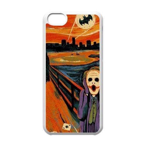 Batman Joker coque iPhone 5C Housse Blanc téléphone portable couverture de cas coque EBDOBCKCO09327