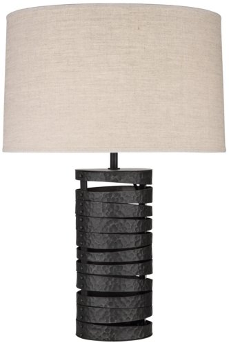 Robert Abbey One Light Table Lamp - Abbey Table Robert Lamp Black