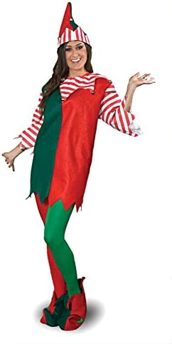 Amazon.com: Sunnywood Elf Costume, talla única , Verde/Rojo ...