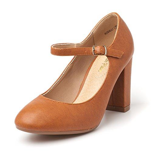 Shoes Tan DREAM Womens Dress Pu Versatile Classic Stiletto PAIRS Heels Platform Pumps Elegant Gloria New Orw7Oq