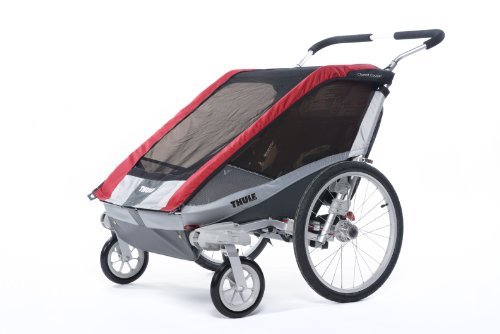 Chariot Cougar Stroller (Thule Chariot Cougar Double Stroller - Red)