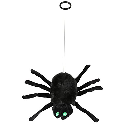 [Rubility Halloween Prank Sound Activated Light up Climb Spider Electric Joke Halloween Horror Toys] (Halloween Costums For Kids)