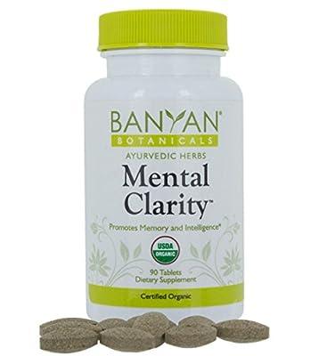 Banyan Botanicals Mental Clarity - USDA Organic - 90 tablets - Promotes Memory, Focus, & Concentration*