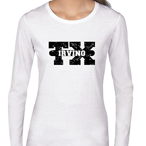 Hollywood Thread Irving, Texas TX Classic City State Sign Women's Long Sleeve T-Shirt]()