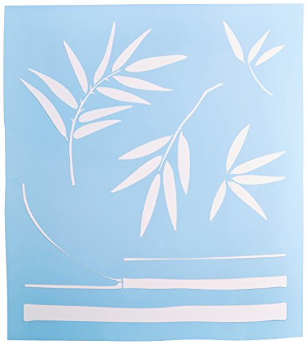 Faux Like a Pro Exotic Bamboo Stencil, 13.5 by 15-Inch, Freeform Allows You to Adjust Height and - Bamboo Stencil