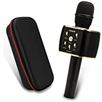 Wireless Karaoke Microphone w/2600mAh 12W+ Portable Bluetooth Speaker, Richer Bass, 16-Hour Playtime, Dual Drivers for Superior Sound for Golf, Beach, Shower and Home