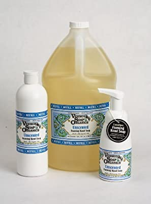 Vermont Soap Organics - Unscented Foaming Hand Soap 16oz Refill