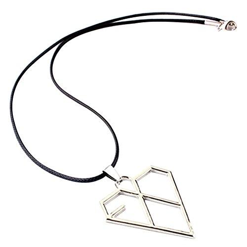 AhlsenL EXO KPOP Necklace Pendant Accessories Merch Titanium Steel Alloy logo bracelet (Heart)