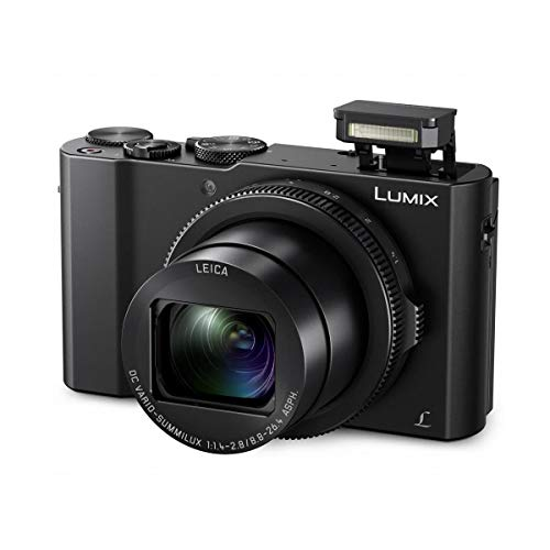 Panasonic Lumix DMC-LX10 4K Digital Point and Shoot Camera, 20.1 Megapixel 1-inch Sensor Bundle with Camera Bag, 32GB SD Card, SD Card Case, Mac Software Kit, Cleaning Kit