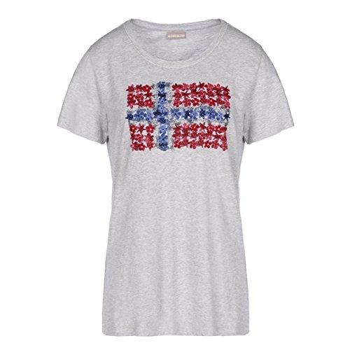 Baby Mel Mother Mujer 795grey Camiseta Para Napapijri Solola Yw1BX7