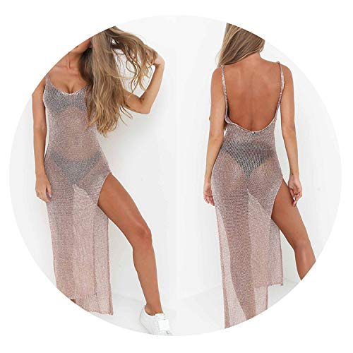 New UK Stock Women Swimsuit Bikini Cover Up Beach Swimwear Bathing Suit Dress,Goud