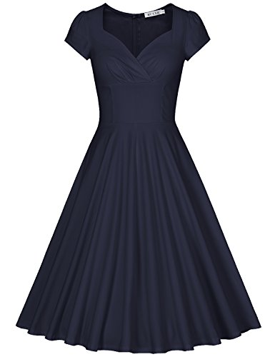 MUXXN Womens Vintage Sweetheart Cocktail