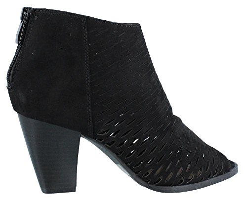 CL by Chinese Laundry Women's Reagan Peep Toe Bootie, Black Stretch Suede,  6.5 M US