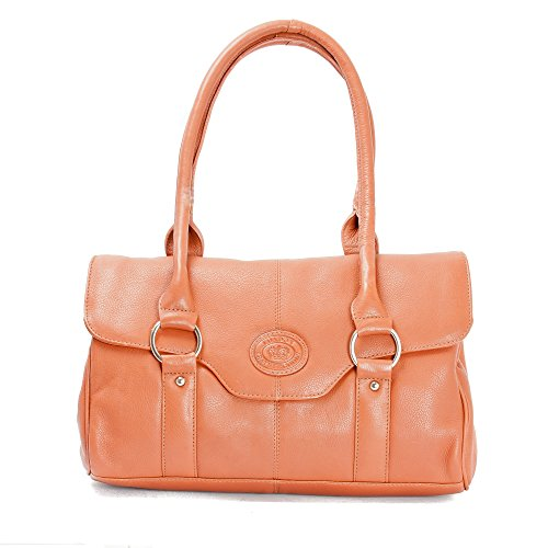 Premium Leather, Borsa a spalla donna Marrone Tenné M - L