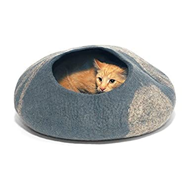 Twin Critters Cat Bed Cave Hideout, Large – Grey