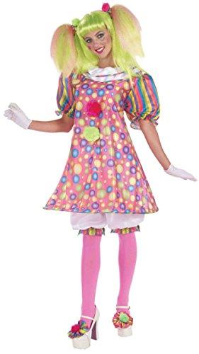 Forum Circus Sweeties Tickles The Clown Dress, Pink, Standard Costume