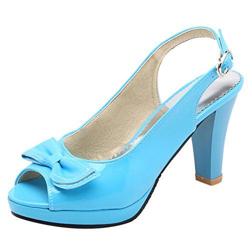 TAOFFEN Stylish Blue Slingback Heels Sandals Women RRxnYwA