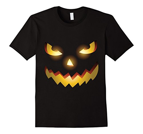 Mens The Official Scary Face Halloween Costume Tee Shirt XL Black
