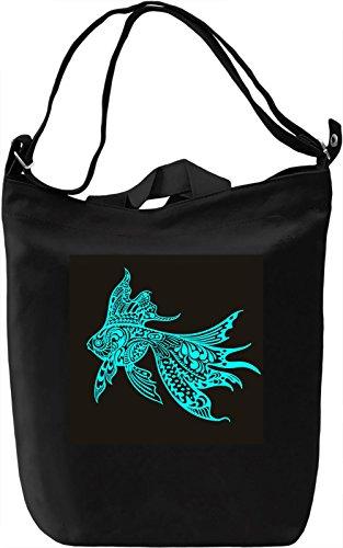 Fish Borsa Giornaliera Canvas Canvas Day Bag| 100% Premium Cotton Canvas| DTG Printing|