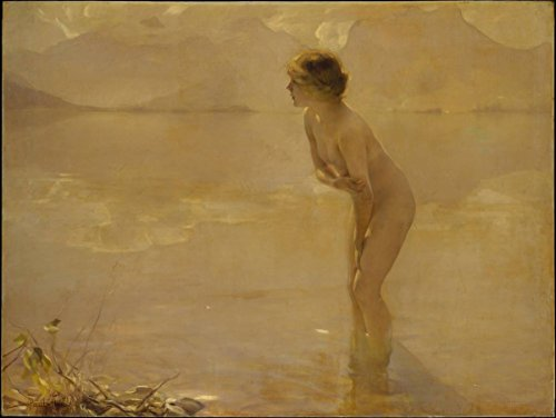 Painting September Morn | Artist: Paul Chabas| Created: Circa 1912 | Antique Vintage Fine Art Poster Print Reproduction (Reproduction Antique Prints)