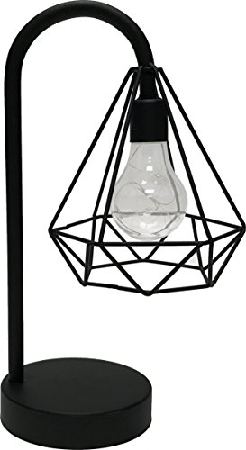 Circleware 03601 Triangle Casing Metal Battery Operated Lamp with LED Light, Home Decor for Bedroom, Living Room, Desk, and Table 6