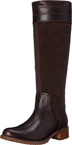 High Timberland Boots Knee - Timberland Women's Bethel Heights Medium Shaft Boot, Dark Brown Euroveg/Suede, 9 M US