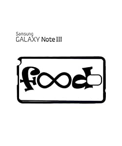 Food Infinity Geek Funny Mobile Cell Phone Case Samsung Note 3 Black