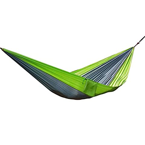 Udyr Camping Hammock, Lightweight Nylon Parachute Multifunctional Backpacking Bedroom XL Double Outdoor Floating Bed with Hanging Rope and Carabiners for Camping, Travel, Beach, Yard - Machine Spreader Bar