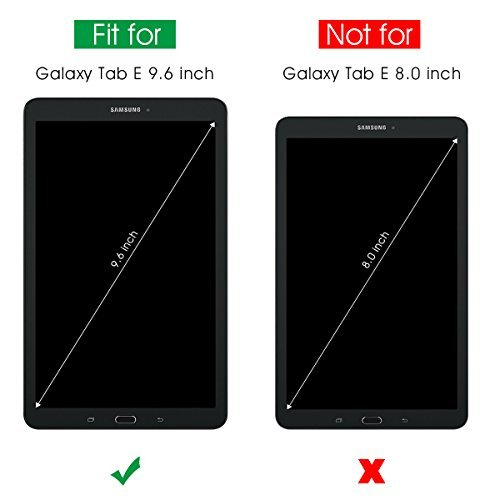9385589045f Galaxy Tab E 96 Screen Protector [Tempered Glass] SPARIN Ultra Clear High  Definition Tempered Glass Screen Protector for Samsung Galaxy Tab E (96  Inch 2015 ...