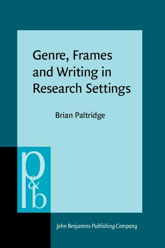 Genre, Frames and Writing in Research Settings (Pragmatics & Beyond New Series)