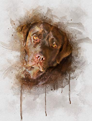 Labrador Retriever Watercolor Art Print in Various Sizes, Chocolate Lab Dog Wall Decor for a Nursery, Home, or Office - A Great Gift for a Brown Lab Lover, Pet Remembrance or Pet Memorial