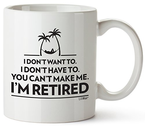 Funny Retirement Gifts Gag for Women Men Dad Mom. Humorous Christmas Retirement Coffee Mug Gift. Retired Mugs for Coworkers Office & Family. Unique Novelty Ideas for Her Nurses Navy Air Force Military