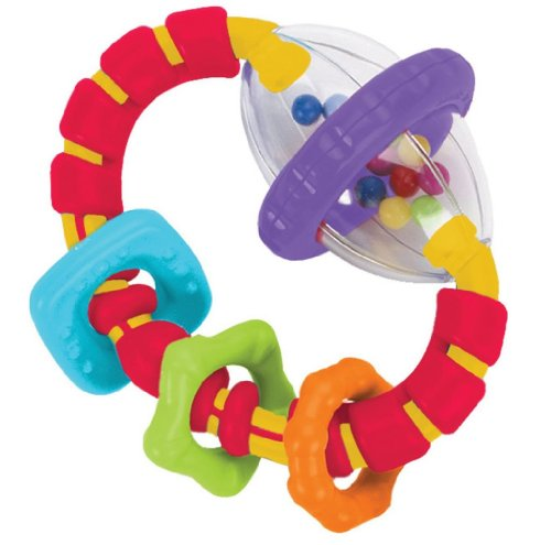 [Bright Starts Grab and Spin Teether Toy] (Barney Infant Costumes)