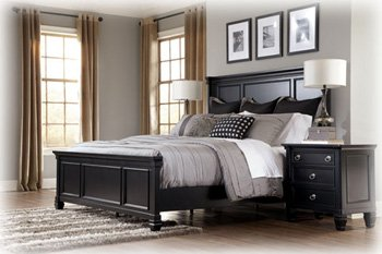Amazon.com: Ashley Greensburg King Panel Bed in Vintage Casual ...