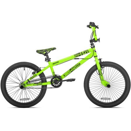"Thruster 20"" Chaos Boys' BMX Bike Sturdy Gusseted Steel Frame and Fork (Neon Green)"