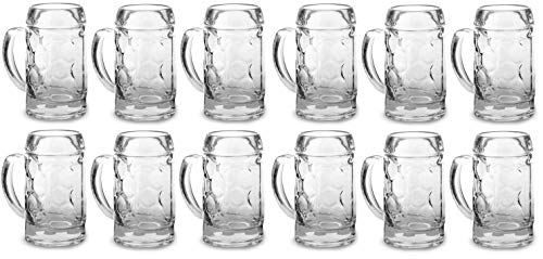 (Circleware Roadhouse Mini Beer Mug Shot Glasses with Handles (Tavern - Set of 12))