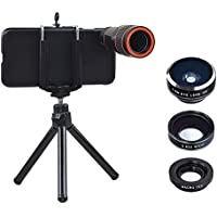 Apexel Optical 12X Zoom Camera Mobile Phone Telephoto/Wide Angle/Fisheye/Macro Lens with Hard Back Case for iPhone 7