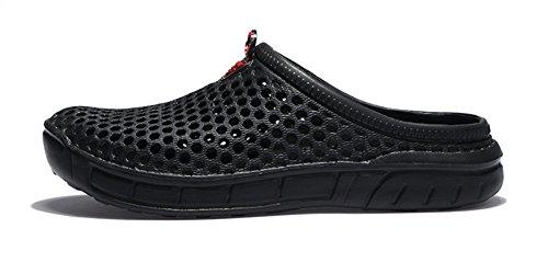 Mules Chaussures Eagsouni Chaussons Bains Plage Outdoor De Homme Jardin Salle Femme Noir Sabots Piscine Sandales 5F4qw4T