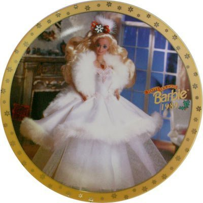 Happy Holidays Barbie Limited Edition Collectors Plate 1989 by Mattel