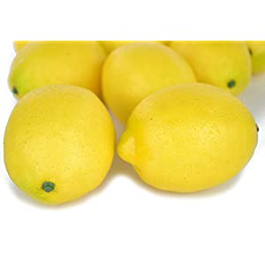 SAMYO Fake Fruit Home House Kitchen Party Decoration Artificial Lifelike Simulation Yellow Lemon 10pcs Set 3