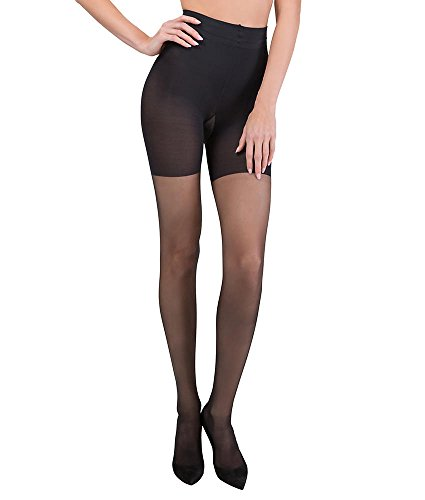 ASSETS Red Hot Label by SPANX Firm Control Shaping Pantyhose, 3, Black