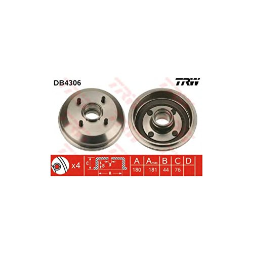 TRW DB4306 Brake Drums: