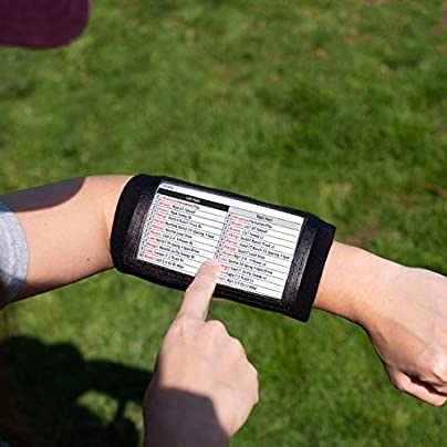 Pro Athletics Wristband- Football Playbook Wristband with Compartments for Adults Estimated Price £4.71 -