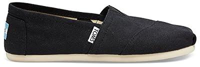 TOMS Women's Canvas Slip-On,Black,5.5 M